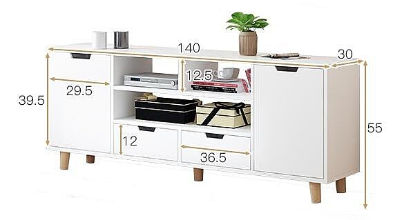 電視櫃 現代簡約茶幾組合北歐小戶型簡易客廳臥室實木色電視機櫃WJ - 風尚3C