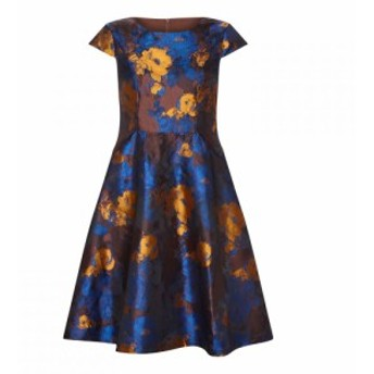 ユミ Yumi レディース ワンピース ワンピース・ドレス Floral Jacquard Dress Brown