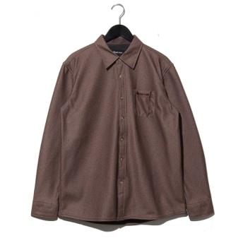20%OFF FIRST DOWN EXPLORATION GEAR (ファーストダウン エクスプロレーション ギア) シャギーボンディングシャツ ブラウン