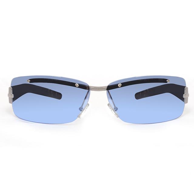 EXTe 義大利 漸層利落感造型太陽眼鏡 / 藍 EX53003