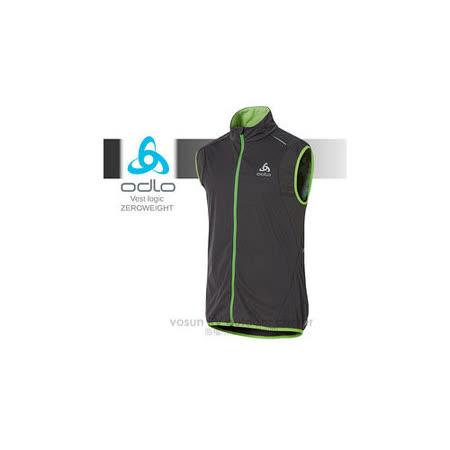 【瑞士 ODLO】男Vest logic ZEROWEIGHT 輕量防風背心夾克_370042 石墨灰