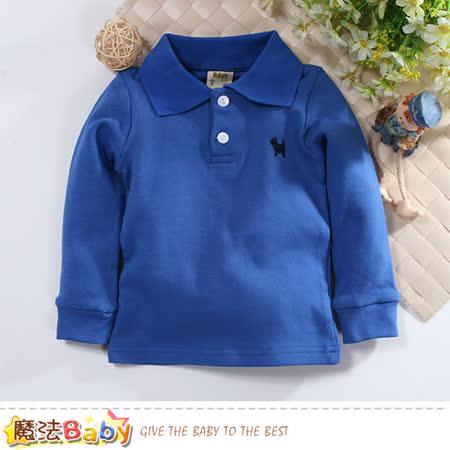 魔法Baby 童裝 幼兒長袖POLO衫 k60871