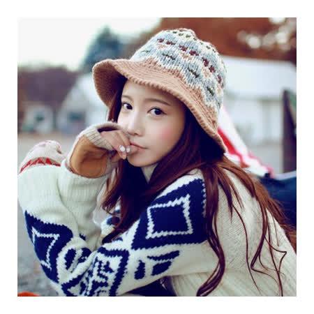 毛帽針織毛線帽-韓版潮流民族風可愛女帽子4色73ie20【米蘭精品】