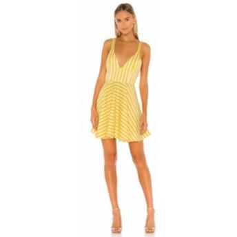 マイケル コステロ Michael Costello レディース ワンピース ミニ丈 ワンピース・ドレス x REVOLVE Sala Mini Dress Yellow Stripe