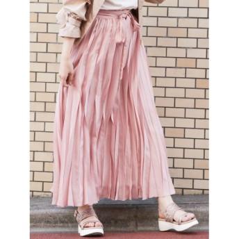 【ダズリン/dazzlin】 【S】シアープリーツロングスカート