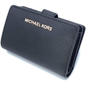 [マイケルコース] MICHAEL KORS 財布(二つ折り財布) 35T9RTVF2L ブラック ジェット セット トラベル レザー ビルフォールド ジップ コインウォレット レディース [アウトレット品] [ブランド] [並行輸入品]