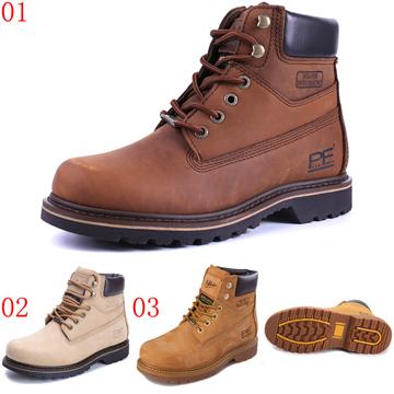 pathfinder口56612口大黃靴復古潮流工裝靴男PF真皮短筒戶外休閒馬丁靴JHS杰恆社