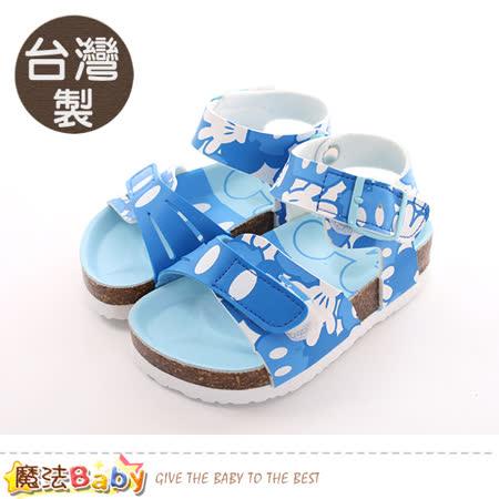 魔法Baby  童鞋 台灣製迪士尼米奇正版兒童涼鞋 sk0409