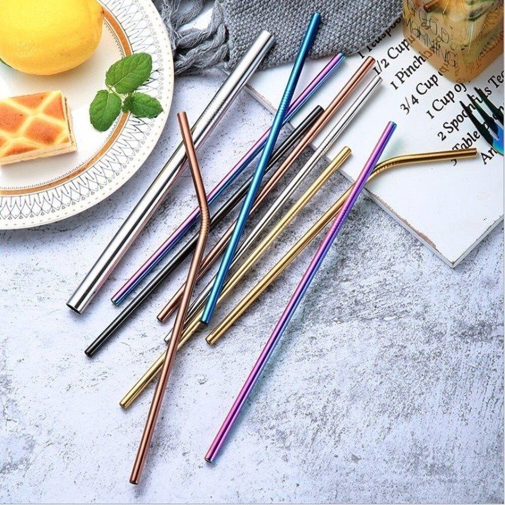 【Love Shop】304不銹鋼吸管/彩色電鍍吸管/彎頭直頭可選 一般常用口/吸管切斜口珍珠奶茶