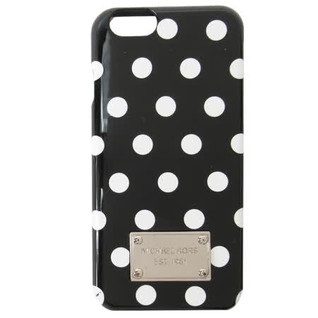 MICHAEL KORS ELECTRONICS 白圓點 iPhone6 手機殼-黑