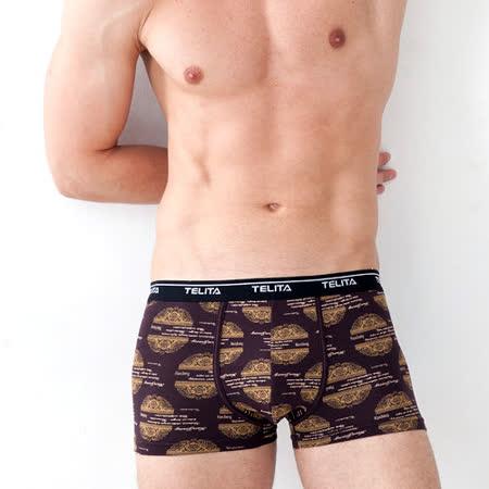 【TELITA】英倫風印花平口褲-隨機出色