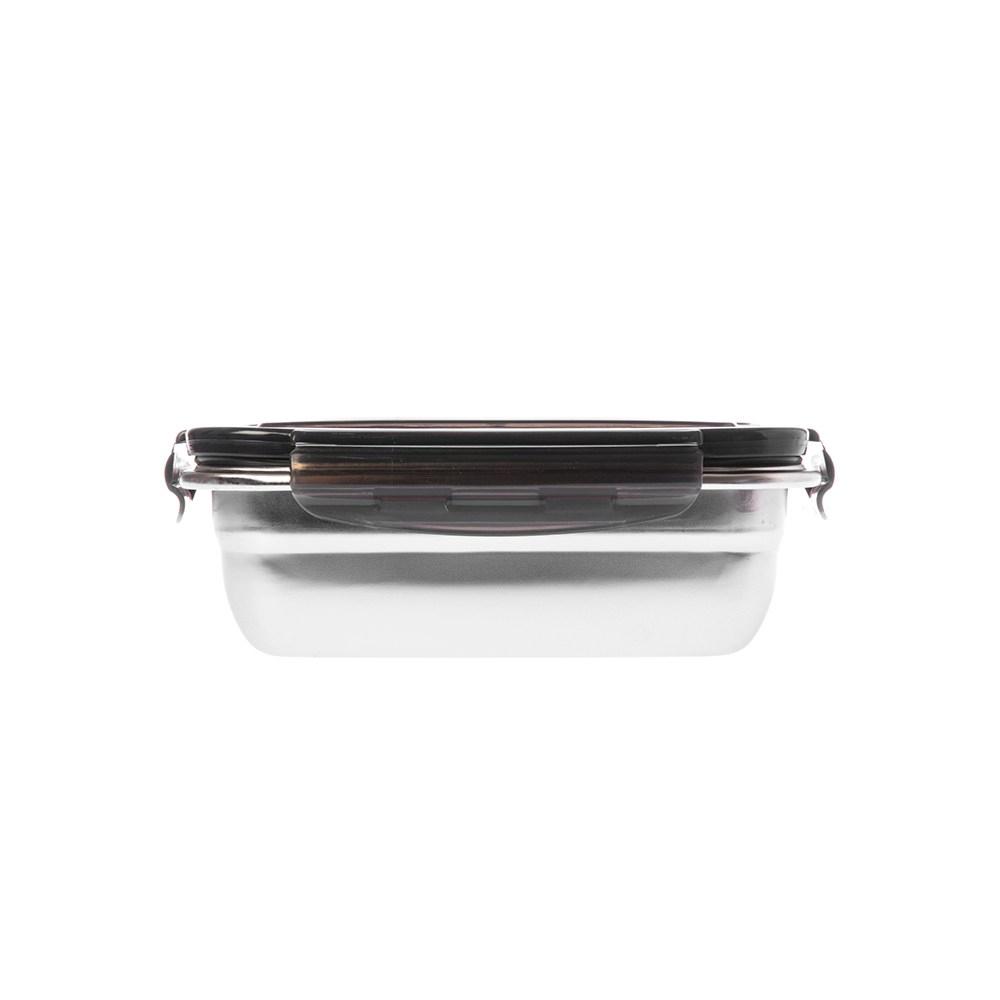304不鏽鋼密封保鮮盒550ml-黑