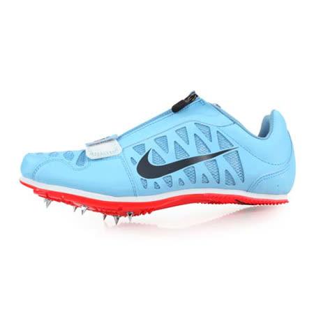 (男女) NIKE ZOOM LJ 4 限量-田徑跳遠釘鞋-跳高 撐竿跳 競賽 附鞋袋 水藍灰