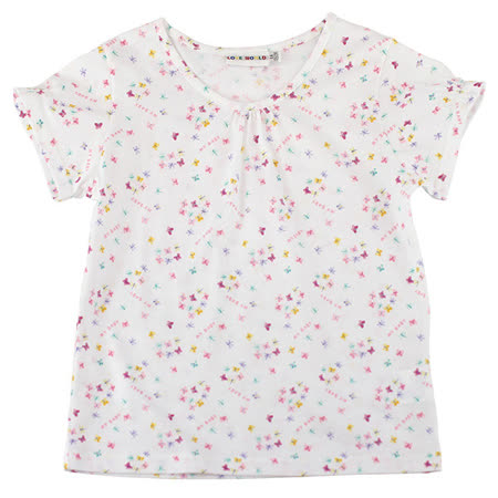 【愛的世界】SUPERMINI 春遊系列純棉圓領蝶舞短袖T恤/4~8歲-台灣製-