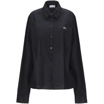 《セール開催中》LACOSTE レディース シャツ ブラック 42 コットン 95% / ポリウレタン 5%