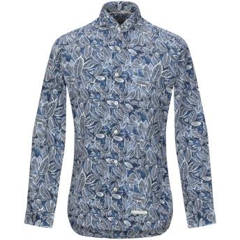 《セール開催中》TINTORIA MATTEI 954 メンズ シャツ ダークブルー 37 コットン 100%