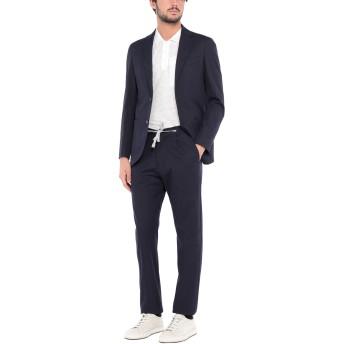 《セール開催中》ELEVENTY メンズ スーツ ダークブルー 46 コットン 89% / ポリウレタン 11%