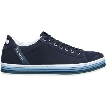 《セール開催中》CESARE PACIOTTI 4US メンズ スニーカー&テニスシューズ(ローカット) ダークブルー 6 革 / 紡績繊維