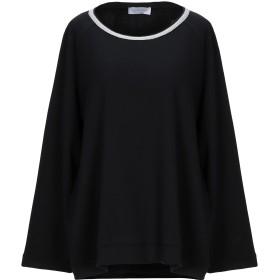 《セール開催中》GRAN SASSO レディース T シャツ ブラック 42 コットン 94% / ナイロン 6%