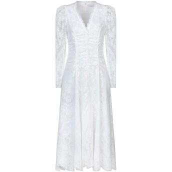 《セール開催中》ERDEM レディース 7分丈ワンピース・ドレス ホワイト 10 コットン 90% / ナイロン 10%