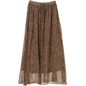 【6,000円(税込)以上のお買物で全国送料無料。】レオパード柄ギャザースカート