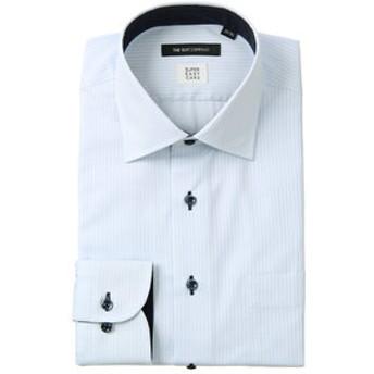 【THE SUIT COMPANY:トップス】【SUPER EASY CARE】ワイドカラードレスシャツ ストライプ 〔EC・BASIC〕