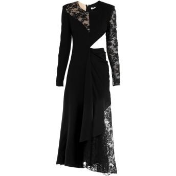 《セール開催中》GIVENCHY レディース 7分丈ワンピース・ドレス ブラック 36 ウール 100% / シルク / コットン / ナイロン