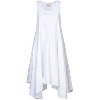 《セール開催中》MARIUCCIA レディース ミニワンピース&ドレス ホワイト L コットン 97% / ポリウレタン 3%