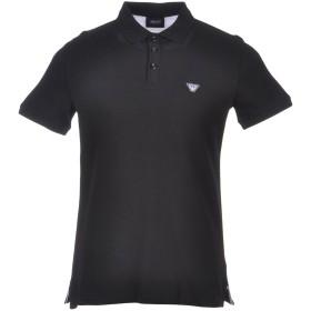 《セール開催中》ARMANI JEANS メンズ ポロシャツ ブラック M コットン 97% / ポリウレタン 3%