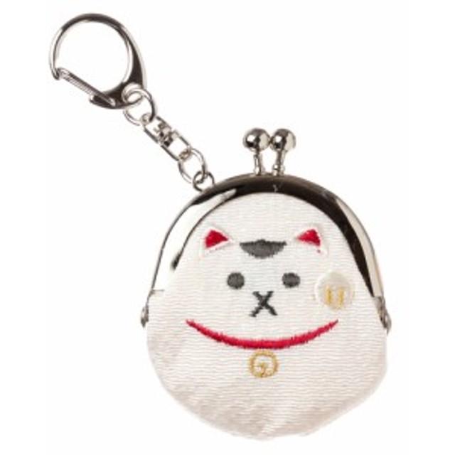 モチーフがま口キーホルダー 招き猫 スーベニール Lucky cat keyring purse