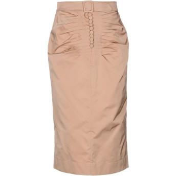 《セール開催中》N°21 レディース 7分丈スカート キャメル 42 ポリエステル 100%