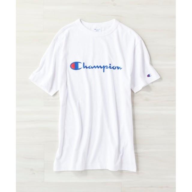 Champion ロゴTシャツ メンズ ホワイト