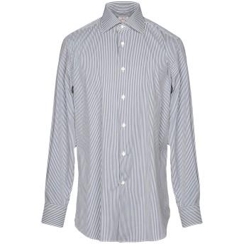 《セール開催中》BORSA per PERLIN メンズ シャツ 鉛色 43 コットン 100%