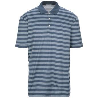 《セール開催中》GRAN SASSO メンズ ポロシャツ ブルーグレー 56 コットン 100%