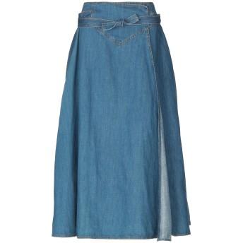 《セール開催中》OTTOD'AME レディース デニムスカート ブルー M コットン 70% / 麻 30%