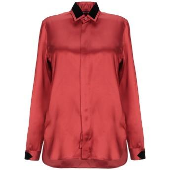 《セール開催中》SAINT LAURENT レディース シャツ 赤茶色 38 レーヨン 100%