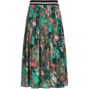 《セール開催中》RUE8ISQUIT レディース 7分丈スカート グリーン 42 ポリエステル 100%
