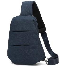 メンズチェストバッグ 自転車スポーツハイキングキャンプのために胸のバッグメンズショルダーメッセンジャーバッグ乗馬アウトドア (Color : Blue)