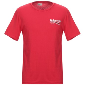 《セール開催中》BALEMENTS メンズ T シャツ レッド M コットン 100%