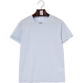 【50%OFF】クルーネック 半袖Tシャツ ブルー 50