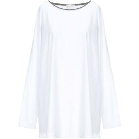 《セール開催中》LE TRICOT PERUGIA レディース T シャツ ホワイト XL コットン 90% / ポリウレタン 10% / バージンウール