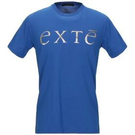 《セール開催中》EXTE メンズ T シャツ ブライトブルー M コットン 100%