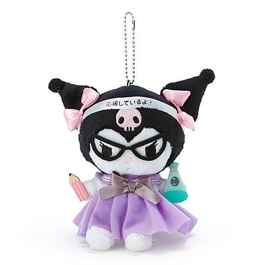 〔小禮堂〕酷洛米 制服絨毛玩偶娃娃吊飾《黑紫》掛飾.鑰匙圈 4901610-93407