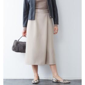 【カリテ/qualite】 Yangany フェイクウールスカーチョ