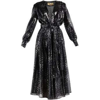 《セール開催中》MSGM レディース 7分丈ワンピース・ドレス ブラック 40 ポリエステル 100%