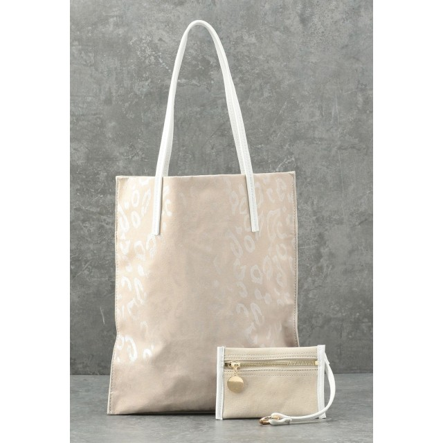 LE JOUR 【CACHELLIE】FLAT TOTE & POUCH トートバッグ,ベージュ系