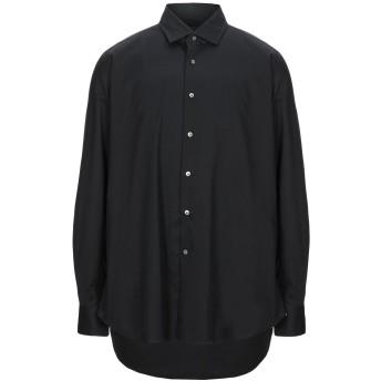 《セール開催中》BAGUTTA メンズ シャツ ブラック 39 コットン 96% / ポリウレタン 4%