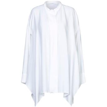 《セール開催中》CRUCIANI レディース シャツ ホワイト 44 レーヨン 64% / キュプラ 36%