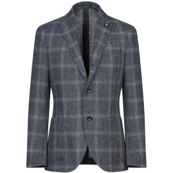 《セール開催中》LARDINI メンズ テーラードジャケット ダークブルー 48 ウール 59% / コットン 33% / リネン 8%