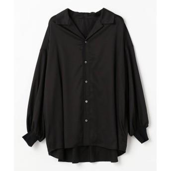 【50%OFF】 ノーク 開襟ボリュームシャツ レディース ブラック 2 【NORC】 【セール開催中】